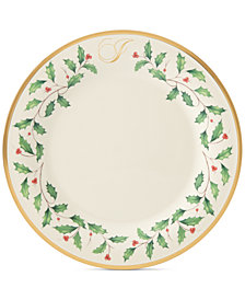 Lenox Holiday Personalized Dinner Plate