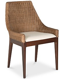 Franco Rattan Sloping Chair, Quick Ship