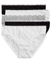 57649d7b8e4d3 Calvin Klein 5-Pk. Cotton-Blend Bikini QP1094M