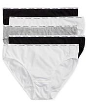 478eed48ace0 Calvin Klein 5-Pk. Cotton-Blend Bikini QP1094M