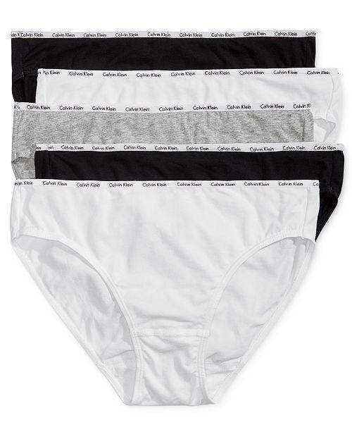 Calvin Klein 卡尔文克莱因 CK 弹力棉 女式三角内裤*5条装 S码4.2折$20.53 海淘转运到手约¥160