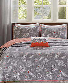 INK+IVY Kids Orbit Reversible Quilted Coverlet Sets