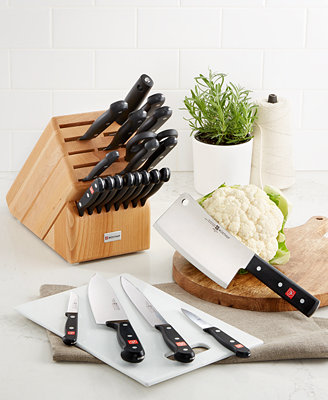 gourmet kitchen knives w 252 sthof gourmet 23 knife block set cutlery 11917