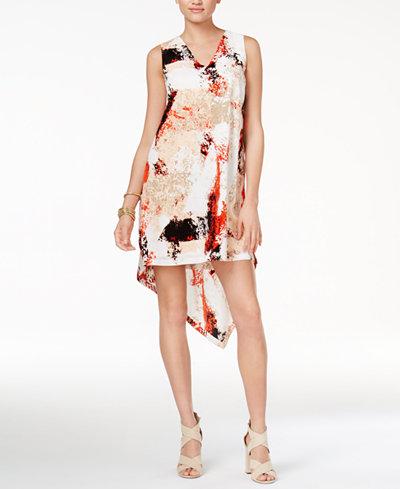 Bar III Asymmetrical Shift Dress, Created for Macy's