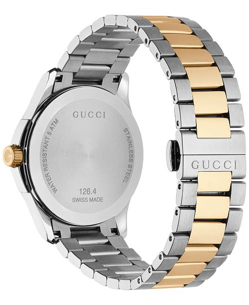 aa81c5ad04f Gucci G Timeless Bi Colour Mens Bracelet Watch - Best Bracelet 2018