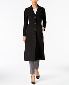 Anne Klein Maxi Walker Wool-Cashmere Blend Coat