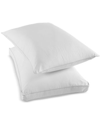 Martha Stewart Collection Won't Go Flat Foam Core Extra Firm Standard Down Alternative Gusset Pillow, Created for Macy's