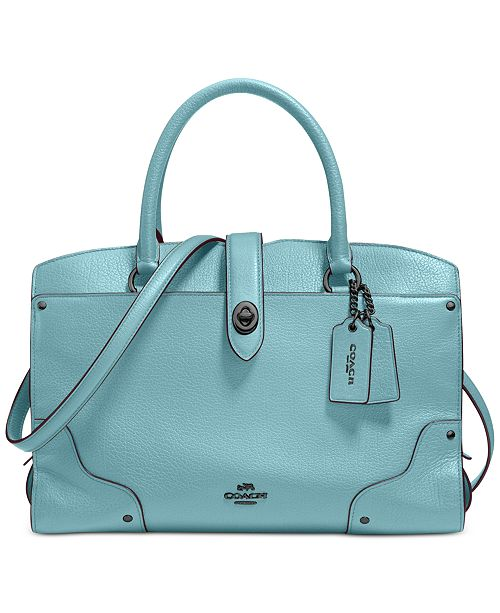 2a470613ad COACH Mercer Satchel 30 in Grain Leather   Reviews - Handbags ...