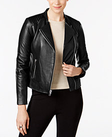Marc New York Selena Leather Moto Jacket