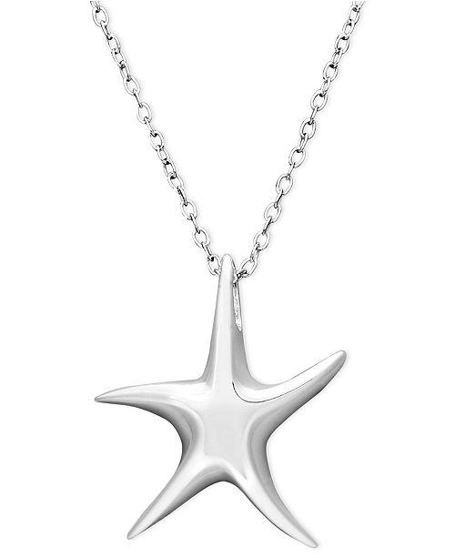 Unwritten Sterling Silver Necklace, Mini Starfish Pendant