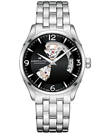 Men's Swiss Automatic Jazzmaster Stainless Steel Bracelet Watch 40mm