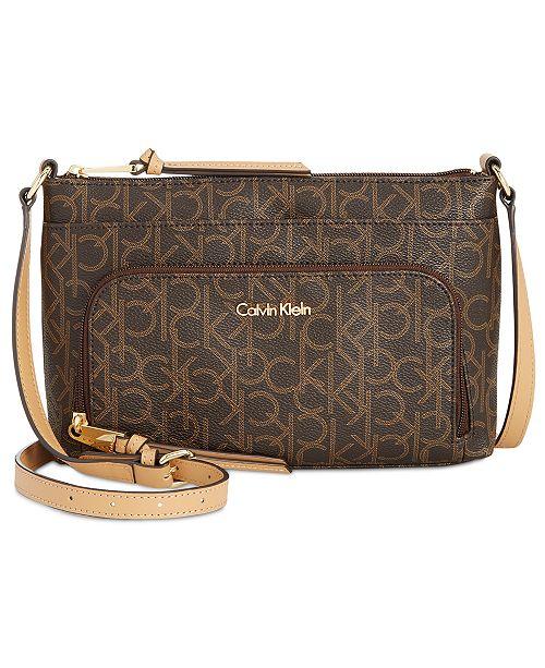 e474506ea3 Calvin Klein Lily Signature Crossbody & Reviews - Handbags ...