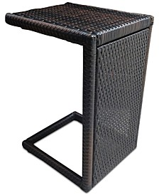 C-shaped Accent Table, Quick Ship