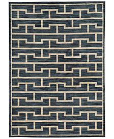 "CLOSEOUT! JHB Design  Brookside Handel Indigo 6'7"" x 9'6"" Area Rug"
