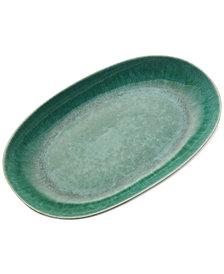 Mikasa  Aventura Green Boxed Oval Platter