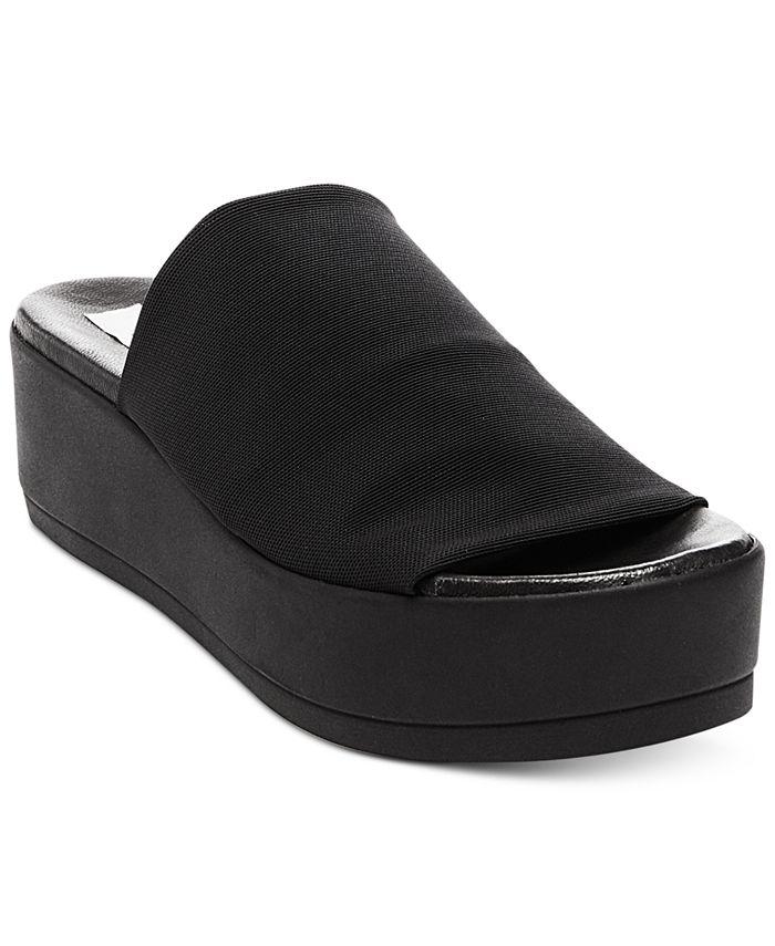 Steve Madden - Women's Slinky Elastic Flatform Sandals