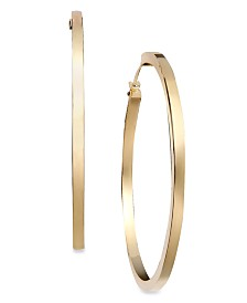 Gold Earrings, 14k Hoop Earrings