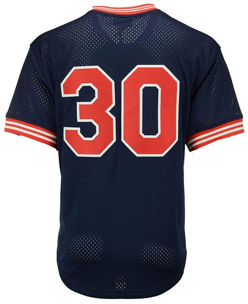 factory authentic 45279 61f8c Men's Joe Carter Cleveland Indians Authentic Mesh Batting Practice V-Neck  Jersey