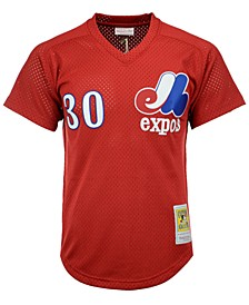 Men's Tim Raines Montreal Expos Authentic Mesh Batting Practice V-Neck Jersey