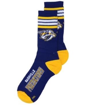 Nashville Predators 4 Stripe Deuce Crew Socks