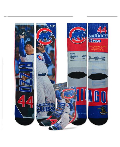 For Bare Feet Anthony Rizzo Chicago Cubs Trading Card Player Crew Socks