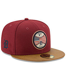 New Era Detroit Tigers Leather Americana 59FIFTY Cap