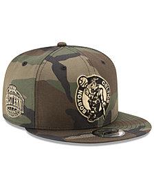 New Era Boston Celtics Metallic Woodland 9FIFTY Snapback Cap