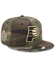 New Era Indiana Pacers Metallic Woodland 9FIFTY Snapback Cap