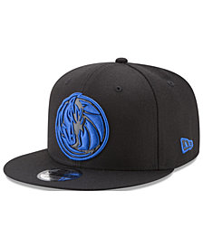 New Era Dallas Mavericks Patent Blackout 9FIFTY Snapback Cap