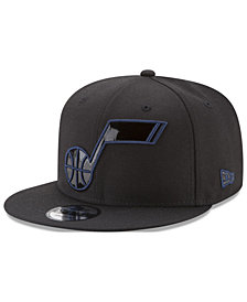 New Era Utah Jazz Patent Blackout 9FIFTY Snapback Cap