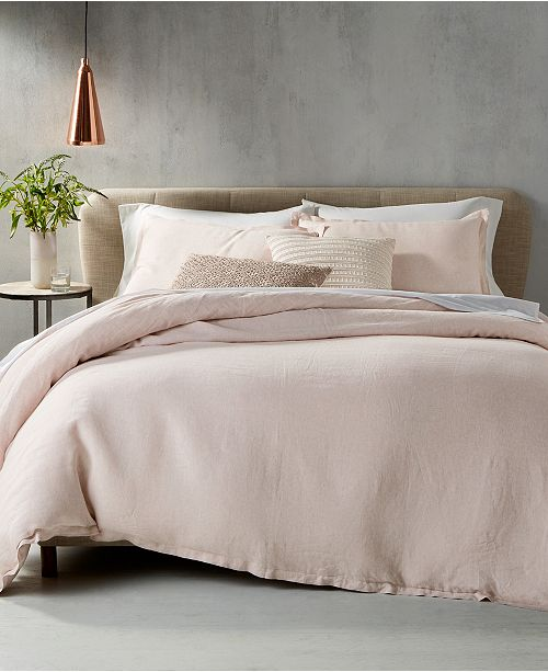 Create A Warm Inviting E With The Delightful Rosequartz Tone And Luxe Lightweight Linen Of This Bedding From Hotel Collection