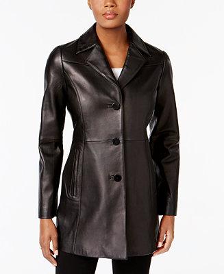 Anne Klein Leather Blazer Jacket Amp Reviews Coats Women