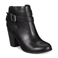 Deals on Material Girl Lexia Block-Heel Booties