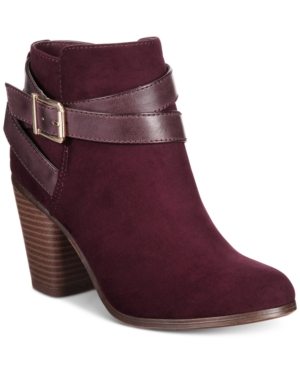 Material Girl Lexia Block-Heel Booties, Created for Macy