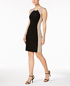 XSCAPE Embellished Sheath Dress