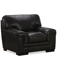 "Myars 47"" Leather Chair"