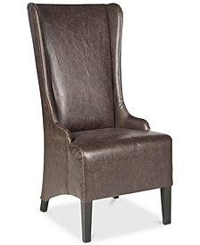 Becall 20''H Leather Dining Chair, Quick Ship
