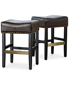 Fardell Backless Counter Stool (Set Of 2), Quick Ship