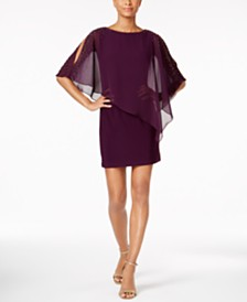 X by Xscape Petite Capelet Sheath Dress
