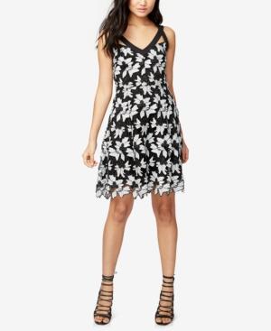 Rachel Rachel Roy  FLORAL LACE FIT & FLARE DRESS