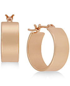 Kenneth Cole New York Rose Gold-Tone Huggie Hoop Earrings