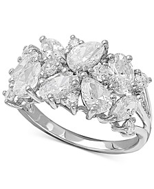 Swarovski Zirconia Cluster Ring in Sterling Silver