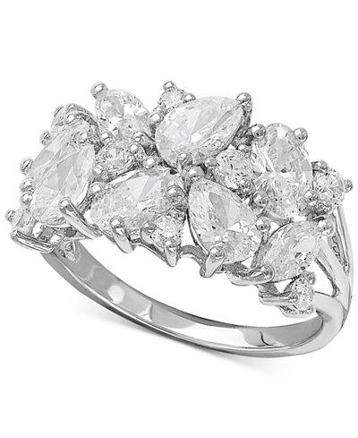 Arabella Swarovski Zirconia Cluster Ring in Sterling Silver