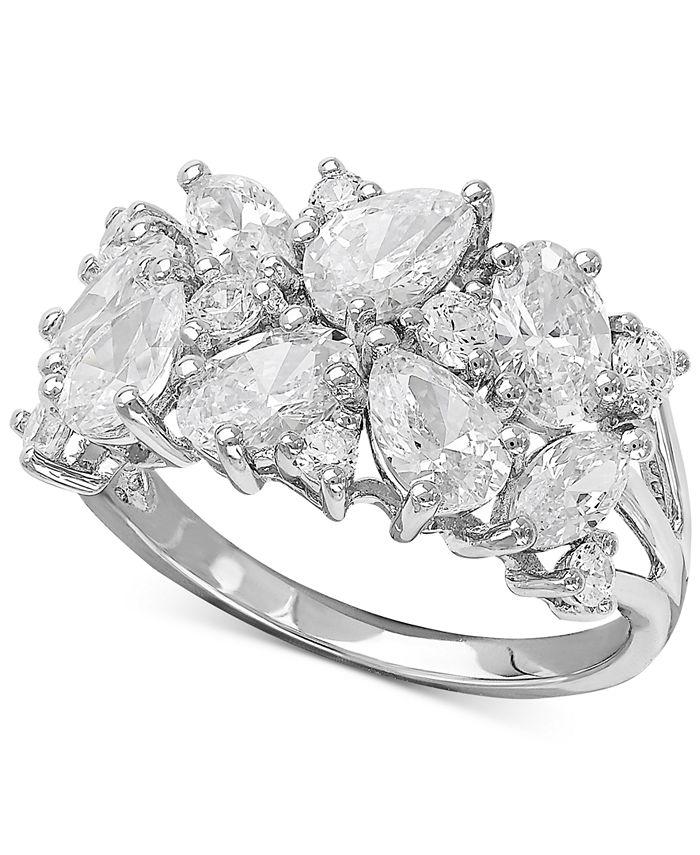 Arabella - Swarovski Zirconia Cluster Ring in Sterling Silver