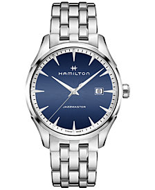 Hamilton Men's Swiss Jazzmaster Stainless Steel Bracelet Watch 40mm