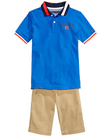 Tommy Hilfiger Nick Polo & Dagger Shorts Separates, Big Boys