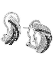 Diamond Twist Drop Earrings (1/2 ct. t.w.) in Sterling Silver