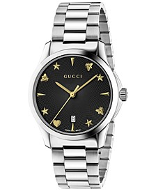 Unisex Swiss G-Timeless Stainless Steel Bracelet Watch 38mm