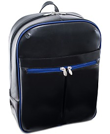 "McKlein Avalon 15.4"" Leather Slim Laptop Backpack"