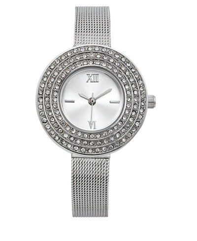 Charter Club Women's Silver-Tone Bracelet Watch 28mm, Created for Macy's